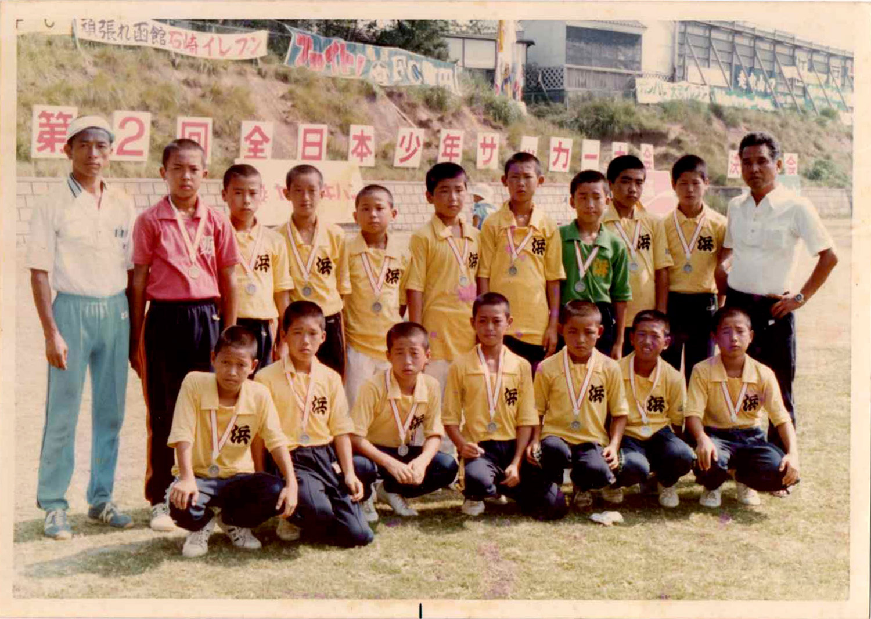 全日本少年サッカー大会(東京 よみうりランド)に佐賀県代表として出場。小学5年生時にGKとして出場しました。